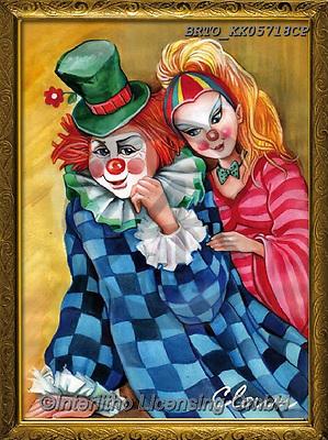 Alfredo, CHILDREN, KINDER, NIÑOS, paintings+++++,BRTOXX05718CP,#k#, EVERYDAY ,clowns