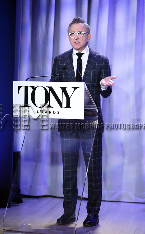 Thomas Schumacher attend the 2018 Tony Awards Nominations Announcement at The New York Public Library for the Performing Arts on May 1, 2018 in New York City.