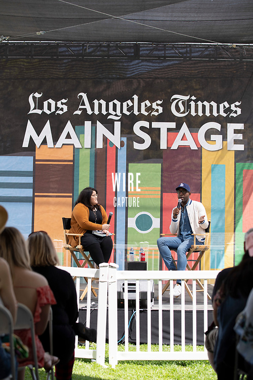"""Karma Brown, Author of """"My Story of Embracing Purpose, Healing, and Hope, """" Interviewed by Yvonne Villarreal at the Los Angeles Times Festival of Books held at the USC Campus in Los Angeles, California on Sunday, April 14, 2019"""