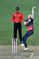 England bowler Ben Stokes into his delivery stride during the Third ODI game between Black Caps v England, Westpac Stadium, Wellington, Saturday 03rd March 2018. Copyright Photo: Raghavan Venugopal / © www.Photosport.nz 2018