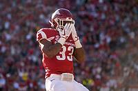 Hawgs Illustrated/BEN GOFF <br /> David Williams, Arkansas running back, scores a touchdown in the second quarter against Missouri Friday, Nov. 24, 2017, at Reynolds Razorback Stadium in Fayetteville.