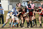 .The University of North Carolina Tar Heels played the North Carolina State Wolfpack in a USA Rugby Women's College Rubgy Division I match. January 23, 2010 at Method Road Field in Raleigh, North Carolina.