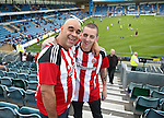 Sheffield United fans look on during the League One match at the Priestfield Stadium, Gillingham. Picture date: September 4th, 2016. Pic David Klein/Sportimage