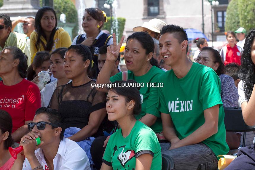 Pocos personas acudieron a los espacios públicos habilitados para ver el partido de la selección nacional. Foto TETÉ/OBTURE PRESS AGENCY;