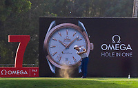 Victor Dubuisson (FRA) on the 7th tee during Round 2 of the Omega Dubai Desert Classic, Emirates Golf Club, Dubai,  United Arab Emirates. 25/01/2019<br /> Picture: Golffile | Thos Caffrey<br /> <br /> <br /> All photo usage must carry mandatory copyright credit (© Golffile | Thos Caffrey)