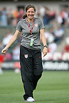 18 May 2011: U.S. assistant coach Hege Riise (NOR). The United States Women's National Team defeated the Japan Women's National Team 2-0 at WakeMed Stadium in Cary, North Carolina as part of preparations for the 2011 Women's World Cup.