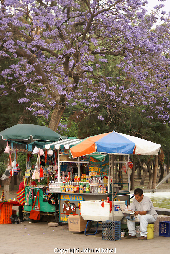 Vendors in Chapultepec Park in Mexico City