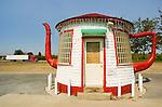 Teapot gas station, now abandoned, rural Zillarh, Washington.