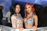 NEW YORK, NY - JUNE 2, 2019 Yung Miami & Saweetie backstage at Summer Jam at Met Life Stadium, June 2, 2019 in East Rutherford, NJ. <br /> CAP/MPIWG<br /> ©WG/MPI/Capital Pictures