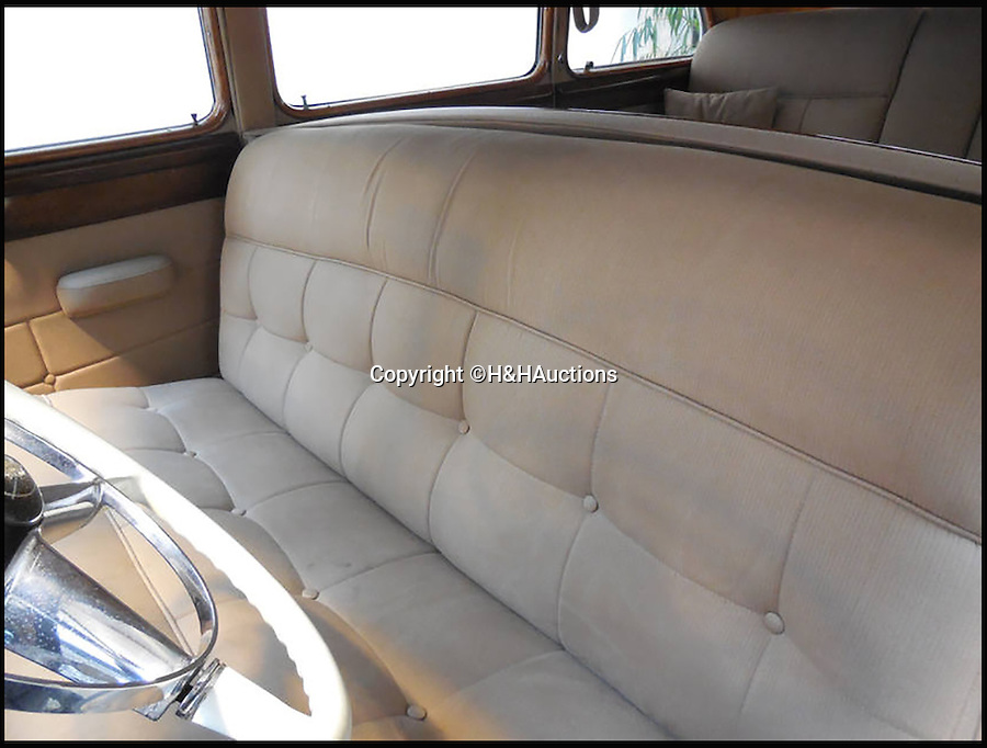 BNPS.co.uk (01202 558833)<br /> Pic: H&HAuctions/BNPS<br /> <br /> A classic Cadillac car intimately linked to the life and death of John F Kennedy is to go to auction. <br /> <br /> The 1949 Cadillac Series 70 was owned by the Archbishop of Boston, Richard Cushing, a close friend of the Kennedys until his death in 1970. <br /> <br /> The esteemed clergyman officiated the marriage of JFK and Jacqueline Lee Bouvier in 1953, baptised many of the Kennedy children, gave the prayer reading at Kennedy's presidential inauguration in 1961 and gave a eulogy for his funeral in 1963. <br /> <br /> It is believed Mr Cushing attended the historic events in the car, that is valued at £45,000.