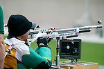 Australia's Mark Bradley competes in the qualification round of the Mixed R5 10M Air Rifle Prone at London Paralymipc Games, 1.9.12.
