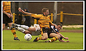 24/8/02         Copyright Pic : James Stewart                     .File Name : stewart-alloa v falkirk 06.FALKIRK'S LEE MILLER IS BUNDELED OFF THE BALL BY STEVEN THOMSON.....James Stewart Photo Agency, 19 Carronlea Drive, Falkirk. FK2 8DN      Vat Reg No. 607 6932 25.Office : +44 (0)1324 570906     .Mobile : + 44 (0)7721 416997.Fax     :  +44 (0)1324 570906.E-mail : jim@jspa.co.uk.If you require further information then contact Jim Stewart on any of the numbers above.........
