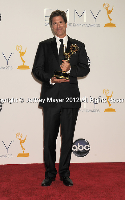 LOS ANGELES, CA - SEPTEMBER 23: Steven Levitan poses in the press room at the 64th Primetime Emmy Awards held at Nokia Theatre L.A. Live on September 23, 2012 in Los Angeles, California.