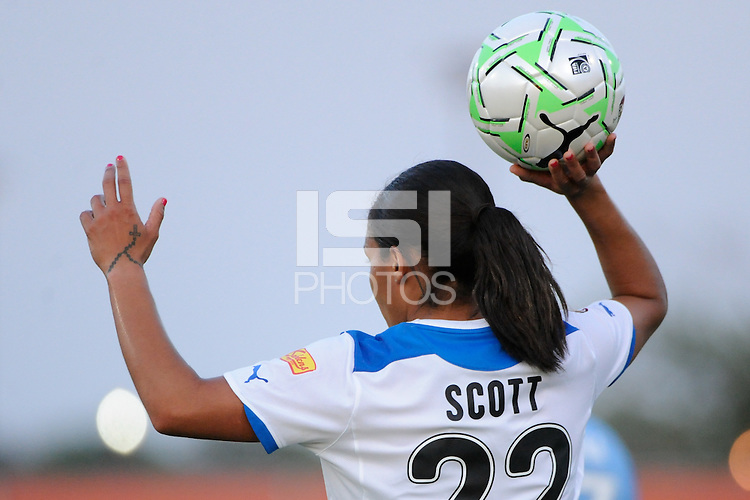 Alex Scott (22) of the Boston Breakers. Sky Blue FC defeated the Boston Breakers 2-1 during a Women's Professional Soccer (WPS) match at Yurcak Field in Piscataway, NJ, on May 28, 2011.