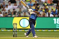 1st November 2019; Melbourne Cricket Ground, Melbourne, Victoria, Australia; International T20 Cricket, Australia versus Sri Lanka; Kusal Perera of Sri Lanka attempts to hit the ball - Editorial Use