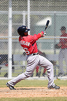 Boston Red Sox minor league player Shannon Wilkerson #26 during a spring training game vs the Baltimore Orioles at the Buck O'Neil Complex in Sarasota, Florida;  March 22, 2011.  Photo By Mike Janes/Four Seam Images