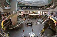 An inside view of the Fulton Center in New York City.