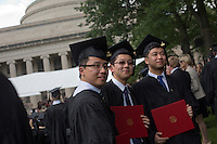 The graduating class of 2012 gather in Killian Court for the 2012 MIT Commencement ceremony on June 8, 2012, in Cambridge, Massachusetts, USA...Photo by M. Scott Brauer