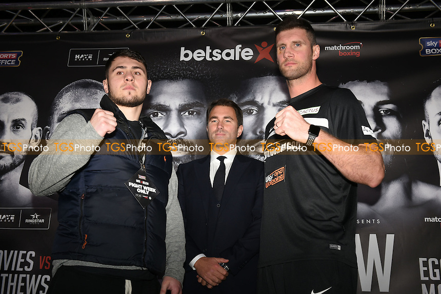 Boxer David Allen (L) and Dave Howe during a Matchroom Boxing Press Conference at The O2 on 2nd March 2017