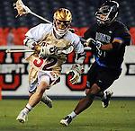 April 27, 2012:  #16 Denver's, Chase Carraro (32), in action against #4 Duke during the Whitman's Sampler Mile High Classic, Sports Authority Field at Mile High, Denver, CO.  #16 Denver defeats #4 Duke 15-9.