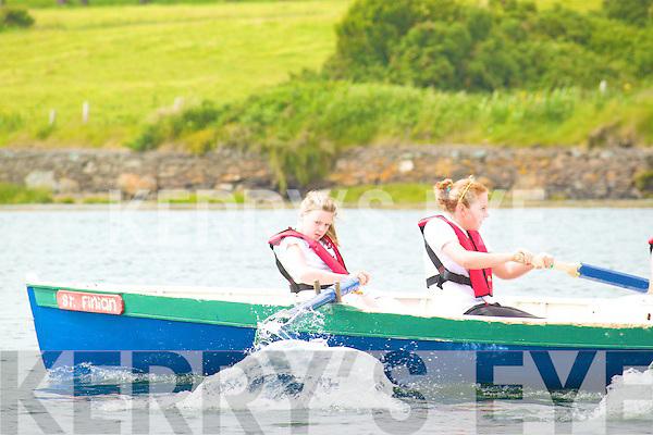 Shauna Clifford & Ashling O'Sullivan from The St Fininan's  U14, 4 oar who won their race at the Cahersiveen regatta on Sunday.  Missing from photo Ciara & Aoife Fitzgerald.