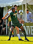 22 September 2008: University of Vermont Catamounts' forward T.J. Gore, a Junior from Macomb, MI, in action against the Colgate University Raiders at Centennial Field, in Burlington, Vermont. The Raiders edged out the Catamounts 2-1, handing the Soccer Catamounts their first home loss of the 2008 season. ..Mandatory Photo Credit: Ed Wolfstein Photo