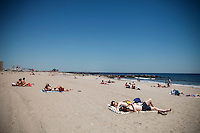 People visit the Rockaway beach during the Opening day of beach season in New York City, United States 05/23/2015. Kena Betancur/VIEWpress