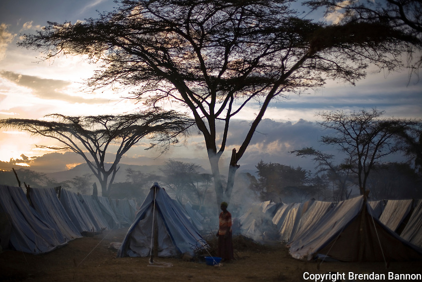 Endebess IDP where  Kenyan's displaced by post election violence sought shelter..
