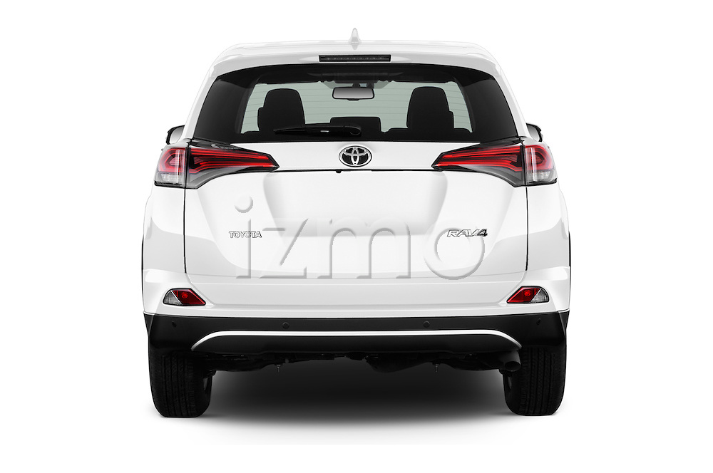 Straight rear view of 2016 Toyota RAV4 Style 5 Door SUV Rear View  stock images