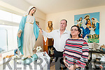 Thomas Powers and Teresa Roche with the statue of Our Lady, in Carraig house in Tralee..