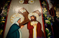 A center piece of a triptych painting of Jesus and Mary at the original St. Stephen's Episcopal Church in Hurst, Texas, USA, Sunday, Nov. 1, 2009. The St. Stephen's Episcopal Church in Hurst, Texas has come to represent a recent change of the Episcopal church which now ordains openly gay priests and offers alternative ideas towards the future for Episcopalians. St. Stephen's has split into two factions due to differing opinions on the future of the church...CREDIT: Matt Nager for The Wall Street Journal