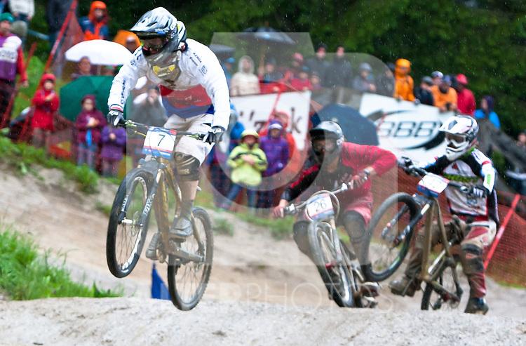 12.06.2011, Bikepark, Leogang, AUT, UCI MOUNTAINBIKE WORLDCUP, LEOGANG, im Bild Kamil Tatarkovic, CZE // during the UCI MOUNTAINBIKE WORLDCUP, LEOGANG, AUSTRIA, 2011-06-12, EXPA Pictures © 2011, PhotoCredit: EXPA/ J. Feichter