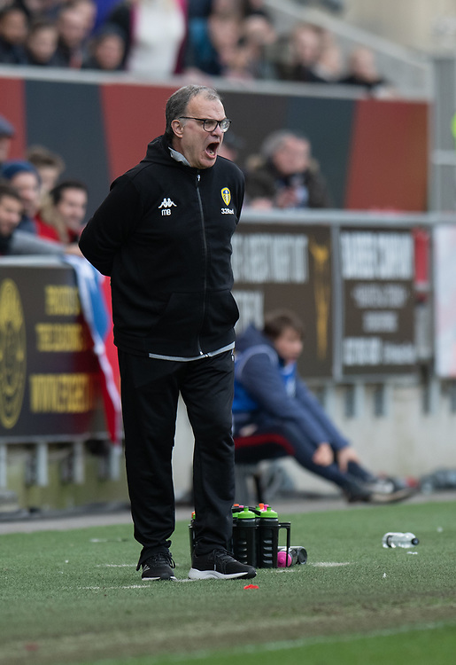 Leeds United manager Marcelo Bielsa<br /> <br /> Photographer David Horton/CameraSport<br /> <br /> The EFL Sky Bet Championship - Bristol City v Leeds United - Saturday 9th March 2019 - Ashton Gate Stadium - Bristol<br /> <br /> World Copyright © 2019 CameraSport. All rights reserved. 43 Linden Ave. Countesthorpe. Leicester. England. LE8 5PG - Tel: +44 (0) 116 277 4147 - admin@camerasport.com - www.camerasport.com