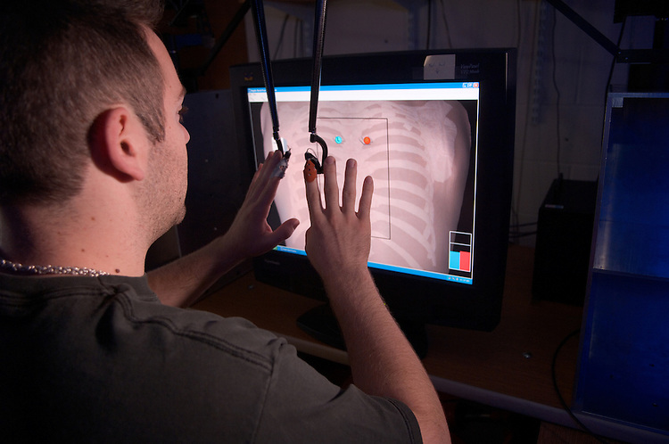 18317College of Engineering Lab shots ..Robert Williams II's lab (virtual haptic back)...Irvine 2102 ..Mike Starkey