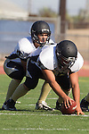 Torrance, CA 09/05/13 - Emilio Nunziati (Peninsula #9) and \pj52\ in action during the Peninsula vs North Junior Varsity football game played at North High School in Torrance, California.