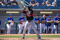 Lake Elsinore Storm Ruddy Giron (2) at bat against the Rancho Cucamonga Quakes at LoanMart Field on April 22, 2018 in Rancho Cucamonga, California. The Storm defeated the Quakes 8-6.  (Donn Parris/Four Seam Images)