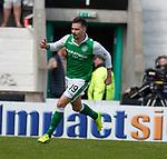 13.05.2018 Hibs v Rangers: Jamie Maclaren celebrates his second goal
