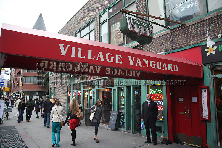 "Atmosphere  Club Marquee & Door.Barbra Streisand celebrates the release of ""Love Is The Answer"", her new album of jazz standards and classics, by singing a selection of these songs at New York's legendary Village Vanguard on Saturday, September 26, where she last performed in 1961 as the opening act for Miles Davis..© Walter McBride   .."
