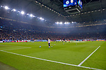06.11.2018, Veltins-Arena, Gelsenkirchen, GER, CL, FC Schalke 04 vs Galatasaray Istanbul, DFL regulations prohibit any use of photographs as image sequences and/or quasi-video <br /> <br /> im Bild tausende Galatasaray Istanbul- Fans in der Schalker S&uuml;dkurve sorgen schon vor dem Spiel sehr lautstark f&uuml;r eine ausgelassene Stimmung<br /> <br /> Foto &copy; nordphoto/Mauelshagen