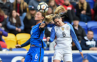 Harrison, N.J. - Sunday March 04, 2018: Amanine Henry, Morgan Brian during a 2018 SheBelieves Cup match between the women's national teams of the United States (USA) and France (FRA) at Red Bull Arena.