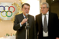 Minos Kyriakou at a new year event of the Olympic Committee in Athens, Greece