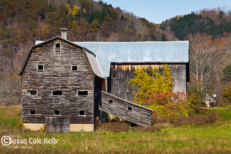 Late autumn on the Howe farms in Tunbridge, VT, USA