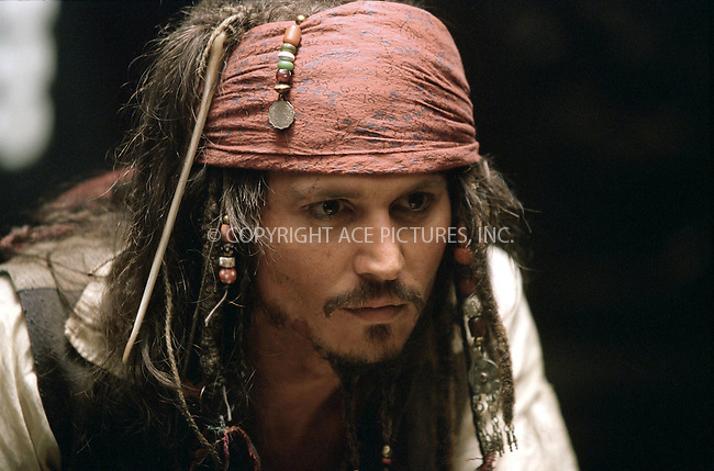JOHNNY DEPP on the set of 'Pirates of the Caribbean: The Curse of the Black Pearl.' Ref: TVSL0001. No reproduction rights granted or implied. All rights reserved by copyright holders. Supplied by NY Photo Press.   ....NY Photo Press:  ..phone (646) 267-6913;   ..e-mail: info@nyphotopress.com