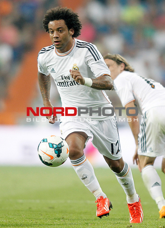 Real Madrid's Marcelo Vieira during La Liga match.August 18,2013. Foto © nph / Acero)