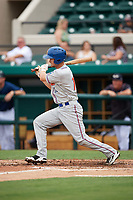 St. Lucie Mets catcher Patrick Mazeika (11) at bat during the first game of a doubleheader against the Lakeland Flying Tigers on June 10, 2017 at Joker Marchant Stadium in Lakeland, Florida.  Lakeland defeated St. Lucie 6-5 in fourteen innings.  (Mike Janes/Four Seam Images)