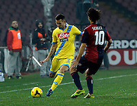 Anthony Reveillere    in action during the Italian Serie A soccer match between SSC Napoli and Genoa CFC   at San Paolo stadium in Naples, February 24 , 2014
