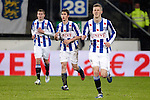Nederland, Heerenveen, 22 december  2012.Eredivisie.Seizoen 2012/2013.Heerenveen-Vitesse 2-1.Filip Djuricic van SC Heerenveen juicht na het scoren van de 1-0