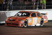 May 2, 2009; Richmond, VA, USA; NASCAR Sprint Cup Series driver Kyle Busch during the Russ Friedman 400 at the Richmond International Raceway. Mandatory Credit: Mark J. Rebilas-
