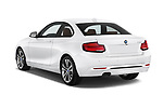 Car pictures of rear three quarter view of a 2018 BMW 2 Series Sport 2 Door Coupe angular rear