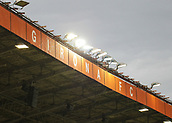 June 4th 2017, Estadi Montilivi,  Girona, Catalonia, Spain; Spanish Segunda División Football, Girona versus Zaragoza; Girona stadium main stand as the rain starts pre-match